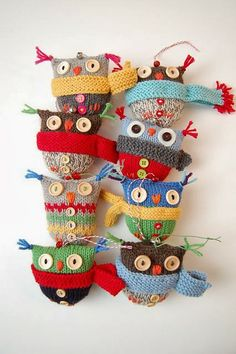 Free pattern: http://www.ravelry.com/patterns/library/owl-puffs