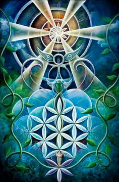 Bohemian Art Krystleyez is a visionary artist who incorporates ethereal and organic forms with sacred geometry to portray the interconnected fabric of nature. Sacred Geometry Art, Sacred Art, Geometry Tattoo, Psy Art, Sacred Symbols, Divine Light, Mystique, Visionary Art, Flower Of Life