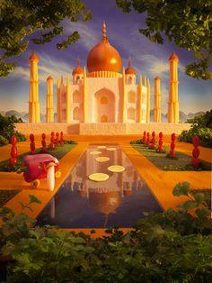 Food Art: Taj Mahal For more information on this kind of art visit: https://www.facebook.com/media/set/?set=a.695191370597754.1073741856.136244093159154&type=1