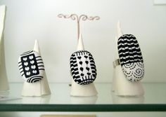 Polymer clay rings by Les folles marquises