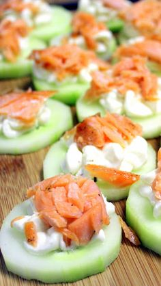 Inspired By eRecipeCards: Cucumber Bites with Salmon - 52 Appetizers Recipes