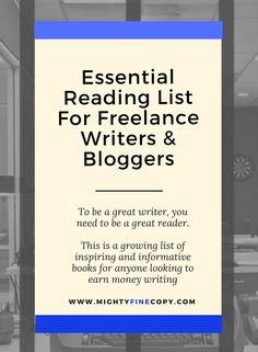 The best books for inspiration and information for new or aspiring freelance writers, copywriters, content marketers and travel bloggers | entrepreneur | travel blog | freelance | copywriting | writing | small business | productivity | books | marketing | content tips | mightyfinecopy.com