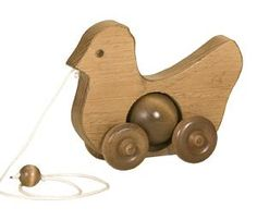 Wooden Pull Toy for Toddlers - Chicken