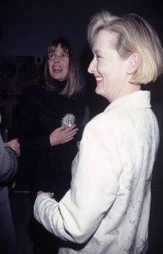 With Diane Keaton at Robert Rauschenberg Gala ~ 1997