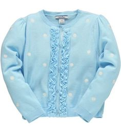 Turtleneck sweater  Hartstrings Easter Girls White Dot Cardigan Seaside Blue 41924 Get Rabate