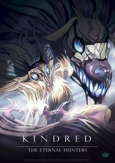 Fan Art of the new characters of League of Legends, Kindred :)