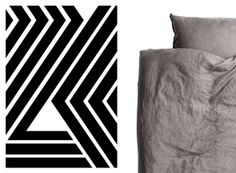 Wild Stripes poster, Riikka Kantinkoski and linen sheets, H&M Home