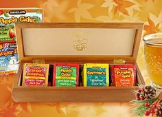 A Gift that Keeps on Giving: Bigelow Tea's Four Seasonal Teas in Wooden Tea Chest