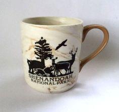 Shenandoah National Park Coffee Mug Cup Pottery Wildlife Animals Bear Moose
