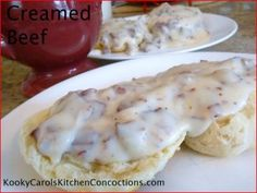 Creamed Chipped Beef over Biscuits. Or on toast like momma used to make