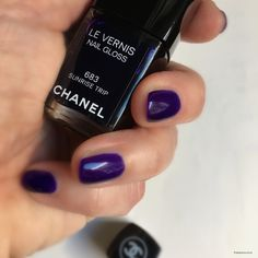 Chanel mani. La Base + Sunrise Trip + Le Top coat.Chanel L.A. Sunrise - Spring16 makeup collection review hereChanel Nailcare tris here