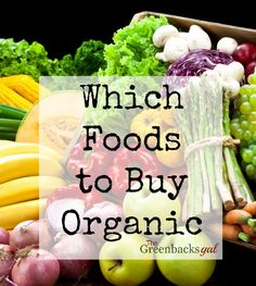 Wondering Which Foods to Buy Organic? A Guide of the Foods Worth Buying Organic — The Greenbacks Gal