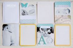 Project Life 2013: a mini baby album - simple as that putting photos ON a journal card.