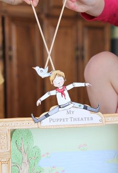 {nearly, almost, may-as-well-be, free} Printable Peter and the Wolf Puppet Theatre!