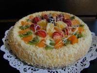Fresh fruit cheesecake at Mozart's