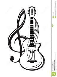 Treble clef and guitar vector – Musical instruments Guitar Tattoo Design, Music Tattoo Designs, Music Tattoos, Guitar Drawing, Guitar Art, Music Notes Art, Guitar Vector, Note Tattoo, Music Symbols