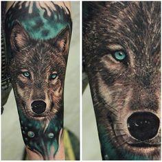 Wolf by @piotr_tattoo #InkedMag #FreshlyInked #art #tattoos #tattoo #wolf #inked