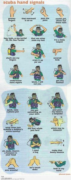 Scuba hand signals