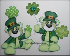 Premade Lucky Bears Paper Piecing Set for Scrapbook Page by Babs | eBay