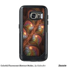 Colorful Fluorescent Abstract Modern Brown Fractal OtterBox Samsung Galaxy S7 Case