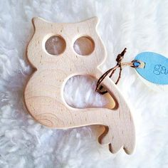 Simple and sweet sustainable maple teething ring for babies.