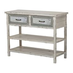 Sandall-Side Board With Drawers And Shelf In Antique Cream