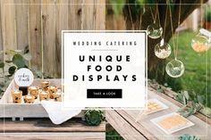 Wedding Catering Food Displays   Article: Design a Dazzling Food Display for Your Wedding   Photography: Rennai Hoefer, Ten22Studio   Read More:  http://www.insideweddings.com/news/planning-design/design-a-dazzling-food-display-for-your-wedding/1924/