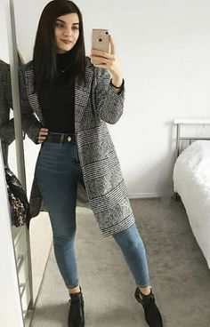 Hm Outfits, Casual Winter Outfits, Winter Fashion Outfits, Mode Outfits, Simple Outfits, Look Fashion, Stylish Outfits, Mode Ootd, Mode Inspiration
