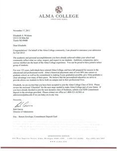 college admission acceptance letter google search
