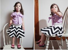amazing pieced chevron skirt by a little gray for project run & play