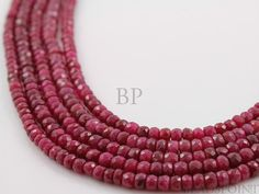 Natural Genuine African Ruby AAA Quality Precious by Beadspoint, $77.95
