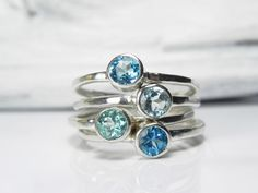 Blue Topaz Ring  Blue Topaz Jewelry  Gemstone by FantaSeaJewelry, $175.00