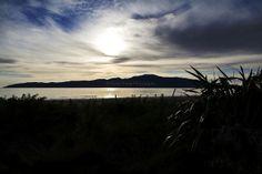 Kapiti Island from Waikanae Beach New Zealand Beach, Bedroom Prints, Beaches, Coast, Island, Celestial, Adventure, Sunset, Photography