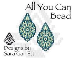 Peyote Earrings Pattern 191 Bead Weaving INSTANT DOWNLOAD PDF Odd Count