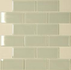 T31 White Subway V01 Glass Mosaic Tile 2x4 tiles, white, 13.75 sq ft