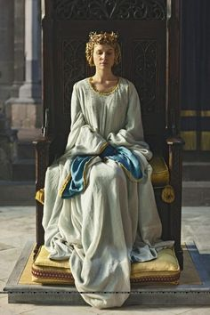 {I'm guessing this is Clémence Poésy as Isabella of Valois in the Richard II film.}