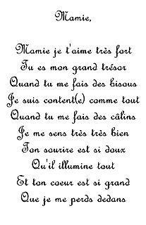 Poeme Pour Toi Mamie Arabe Pinterest Grandparents Day Mothers