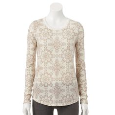 SONOMA Goods for Life™ Mosaic Thermal Tee - Women's