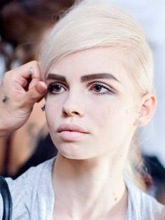New York Fashion Week just ended with everyone agreeing that the buzz word for the overall Spring 2013 look is *bold*. Marc Jacobs went for a very pale makeup look with very strong, square eyebrows. Now, that's bold!
