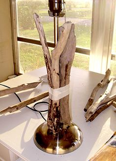 Step by Step Directions for Making a Driftwood Lamp DIY Driftwood