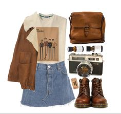 Best Vintage Outfits Part 36 Indie Outfits, Grunge Outfits, Winter Outfits, Summer Outfits, Casual Outfits, Artsy Outfits, Skirt Outfits, 90s Fashion, Korean Fashion