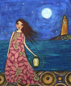 Sascalia Girl by Ocean