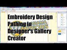 YouTube Embroidery Software, Embroidery Digitizing, Machine Embroidery Designs, Fabric Art, The Creator, Stitches, Logos, Gallery, Artist