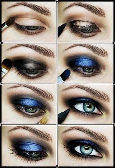 Black and Blue Makeup Technique