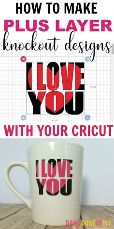 How To Make Knockout Designs in Cricut Design Space. Plus learn how you can layer your knockout with adhesive vinyl #cricutprojects #knockoutdesigns