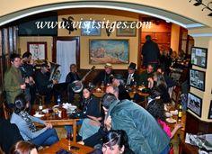 Cena con música de jazz en los Bares y Restaurantes de Sitges colaboradores del Festival Jazz Antic de Sitges 2013
