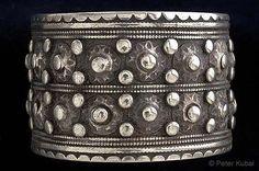 Pakistan | Silver bracelet worn by Pashtun women. | ca. 1910, Swat Valley