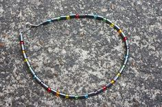 Rainbow Hematite Anklet 11 1/2 Inches by TwoFeathersJewelry