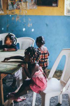 Children at a school in the Dominican Republic