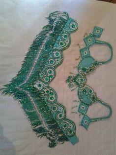 Roupa De Dança Do Ventre Verde - R$ 135,00
